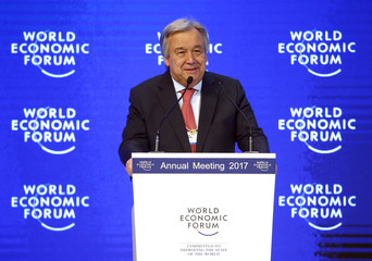 Guterres United Nations Secretary general attends the WEF annual meeting in Davos