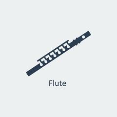 Flute icon. Silhouette vector icon