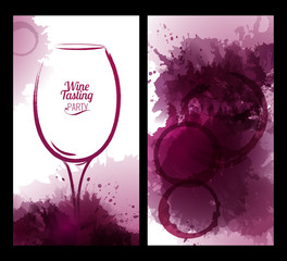 wine glass with background stains
