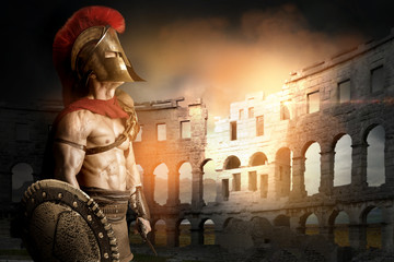 Ancient soldier or Gladiator Wall mural