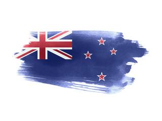 New Zealand flag grunge painted background