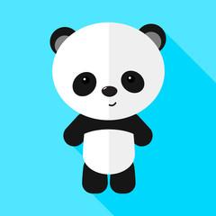 Image of a little panda. Flat design