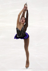 Kwak of South Korea performs during the ladies free skating competition at the ISU Four Continents Figure Skating Championships in Taipei