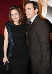 """Fey and Carell pose for photographers as they arrive at the premiere of """"Date Night"""" in New York City"""