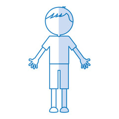 young boy avatar character vector illustration design