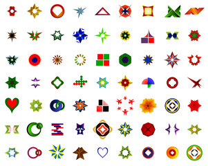A set of logos, icons and graphical elements