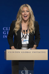 """Actress Kate Hudson takes part in the """"Lessons from the Front Lines of Women's Leadership"""" session at the Clinton Global Initiative 2013 (CGI) in New York"""