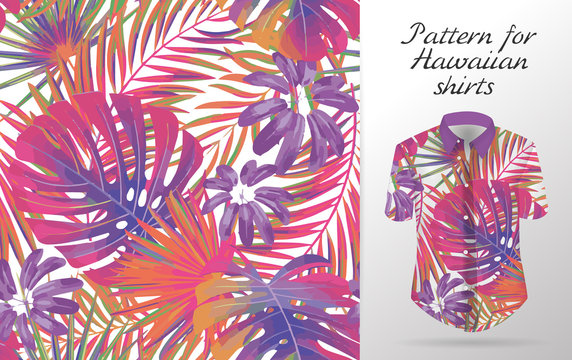 Hawaiian aloha shirt. an icon in a flat style isolated on white background