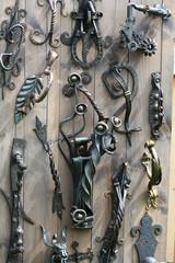 Forged door handle decorative  iron
