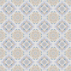 Old ceramic tiles patterns background in the park public