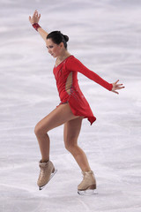 Tuktamisheva of Russia performs her ladies short program at the Bompard Trophy ISU Grand Prix of figure skating competition in Paris