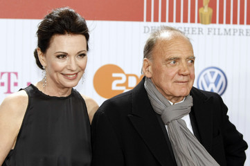 German actors Berben and Ganz pose on the red carpet as they arrive for the German Film Prize (Lola) ceremony in Berlin