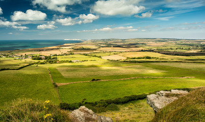 Vista of the western side of the Isle of Wight