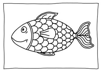 Ausmalbild Fisch