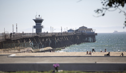 A general view of the pier in Seal Beach