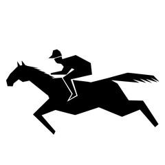 Jokey and horse