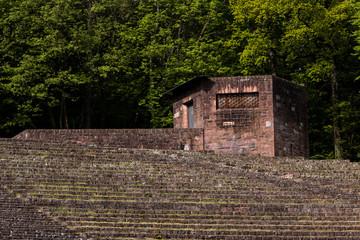 Ruinen Burg fenster geländer