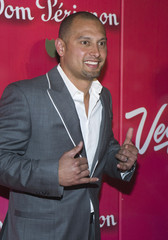 "MLB player Shane Victorino arrives for the ""Power of Love Gala"" and 70th birthday celebration for Muhammad Ali in Las Vegas"