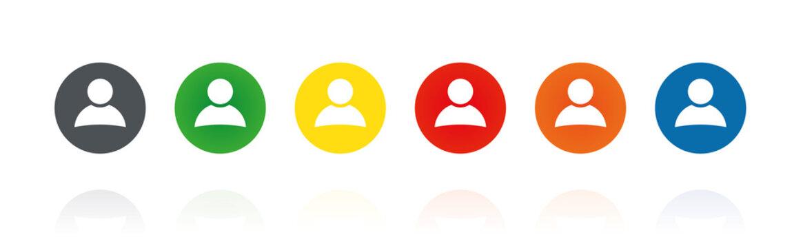 Avatar - Profilbild - Farbige Buttons