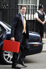 Britain's Deputy Prime Minister Clegg arrives in Downing Street in central London