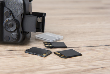 Memory card for photographers Plug in card slot