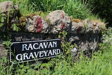Racavan graveyard near Mount Slemish