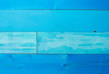 Blue background. Wooden blue horizontal boards background.