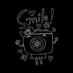 Cute cartoon camera.