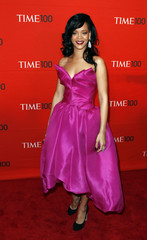 Singer Rihanna arrives to be honored at the Time 100 Gala in New York