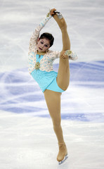 Lipnitskaia of Russia performs during the ladies free skating event at the ISU Grand Prix of Figure Skating final in Barcelona