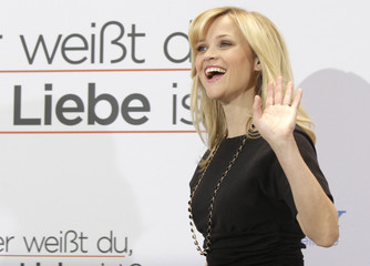 Cast member Witherspoon poses to promote movie in Berlin