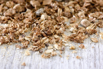 muesli on wood