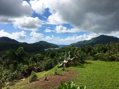 Beautiful of the inner country of Tahaa, Tahiti, French Polynesia