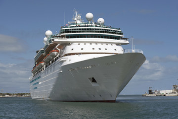 The cruise ship Majesty of the Seas seen at Port Canaveral Florida USA