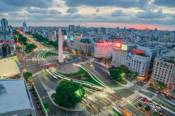 Photo sur Toile Buenos Aires The Capital City of Buenos Aires in Argentina