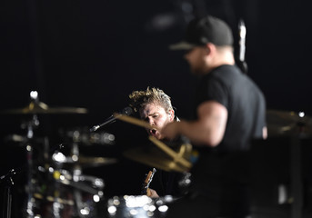 Mike Kerr and Ben Thatcher of band Royal Blood perform during the 2014 MTV Europe Music Awards at the SSE Hydro Arena in Glasgow