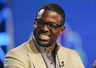 "Lance Gross from the series ""Crisis"" takes part in a panel discussion at the 2014 Winter Press Tour for the Television Critics Association in Pasadena, California"