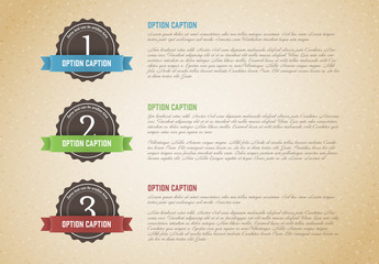 Three Section Paper Texture Infographic