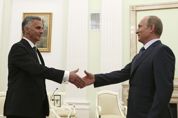 Putin meets with Burkhalter at the Kremlin in Moscow