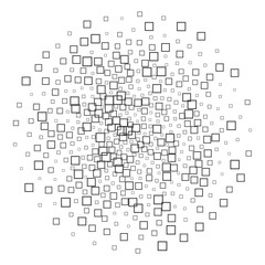 Square Shapes abstract black and white Pattern