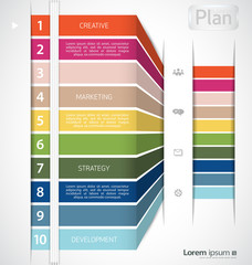 Colorful infographic clean template