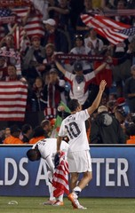 United States' Landon Donovan waves at the end of their 2010 World Cup Group C soccer match at Loftus Versfeld stadium