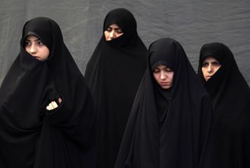 Iranian women attend Friday prayers in Tehran