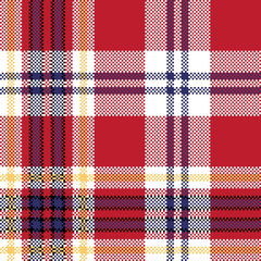 Red plaid seamless fabric texture