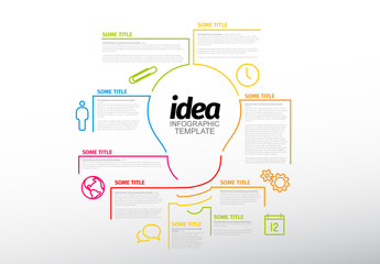 Lightbulb Infographic Layout