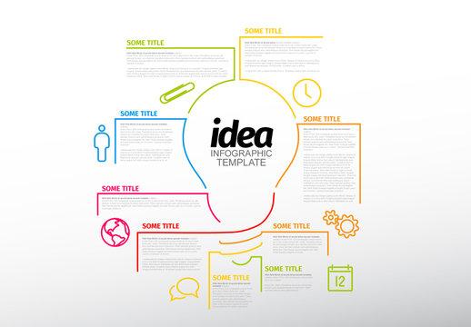 Lightbulb Infographic Layout