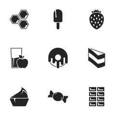 Icons for theme Confectionery and sweets. White background
