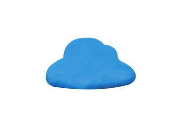 plasticine in cloud shape
