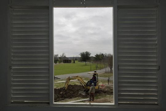 Construction at the Whitney Plantation in Wallace Louisiana