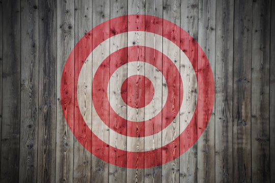 target on the wooden wall